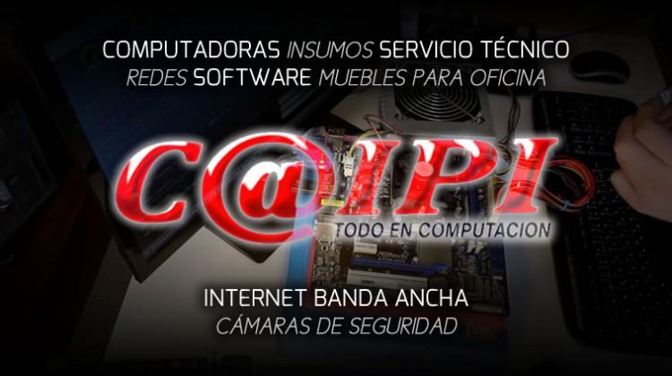 CAIPI COMPUTADORAS INSUMOS PARA LA PC SOPORTE SERVICIO TECNICO REDES SOFTWARE HARDWARE MALWARE VIRUS MUEBLES PARA OFICINA CAMARAS DE SEGURIDAD