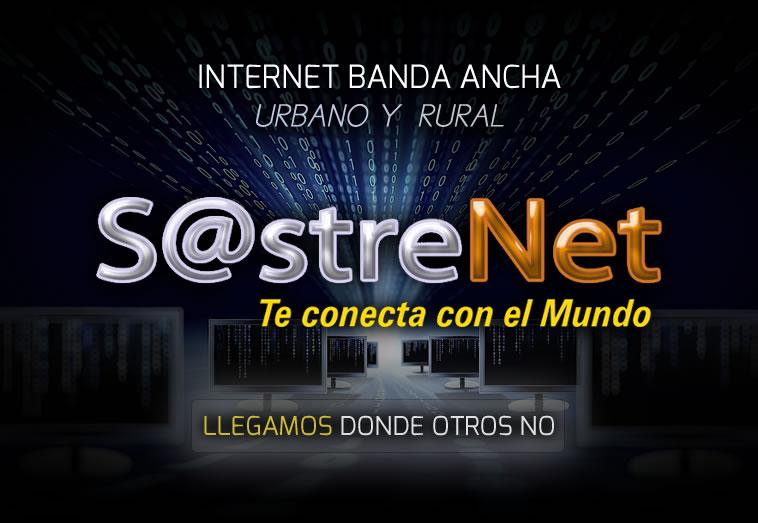 SASTRE NET TE CONECTA CON EL MUNDO INTERNET ALTA VELOCIDAD URBANO Y RURAL
