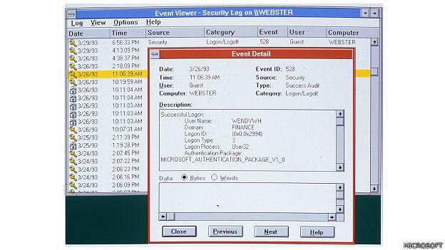 """""""Windows NT representa nada menos que un cambio fundamental en la forma en que las empresas pueden abordar sus requisitos informáticos empresariales"""", dijo Bill Gates en su lanzamiento en 1993. Las letras NT se refieren a la designación del producto como """"Tecnología Nueva"""" (New Technology).  (Presione la tecla ESC para salir de esta vista)"""