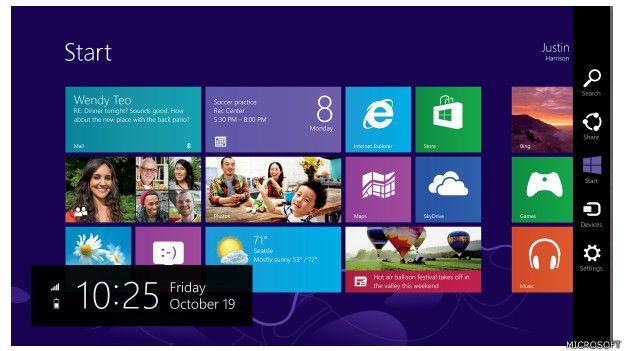 Windows 8 es un sistema operativo renovado. Con una pantalla de Inicio con mosaicos, presenta una interfaz totalmente nueva, con funcionalidad táctil.  (Presione la tecla ESC para salir de esta vista)